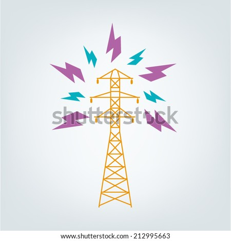 transmission tower icon concept