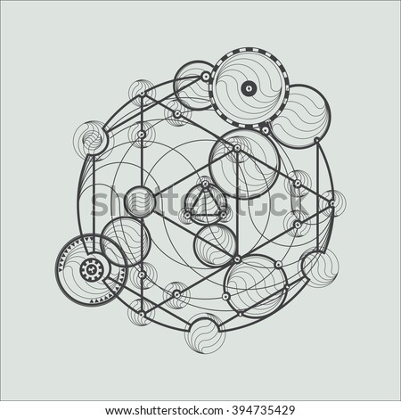 transmutation circles line art