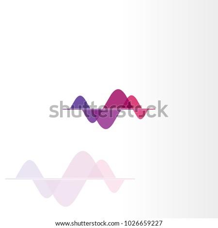 Transparency color sound wave