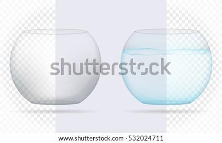 transparent aquarium isolated