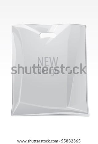 Transparent bag, vector