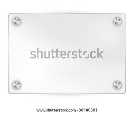 transparent blank frame on