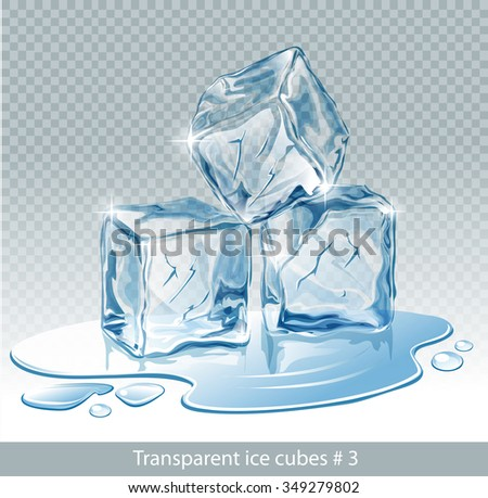 transparent  blue vector ice