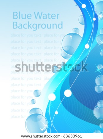 Transparent bubbles on an abstract water background