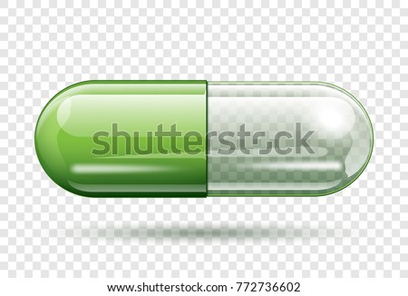 transparent capsule pill