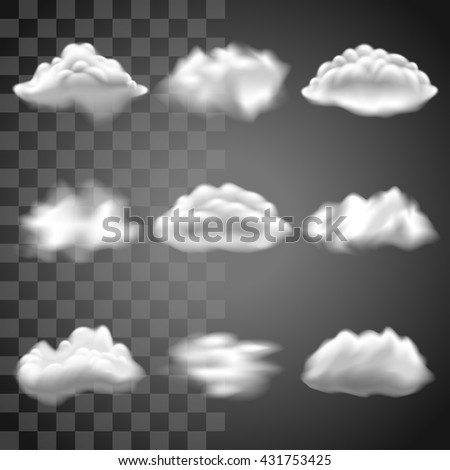 transparent clouds icons