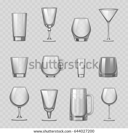transparent empty glasses and