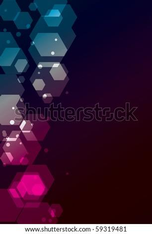 Transparent Funky Polygon background