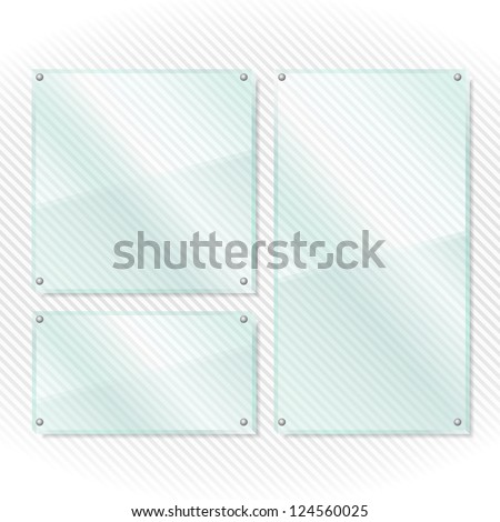 Transparent glass boards, vector eps10 illustration