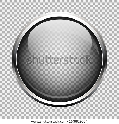 Transparent glass button