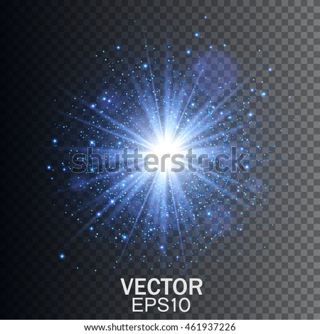 transparent glow light effect