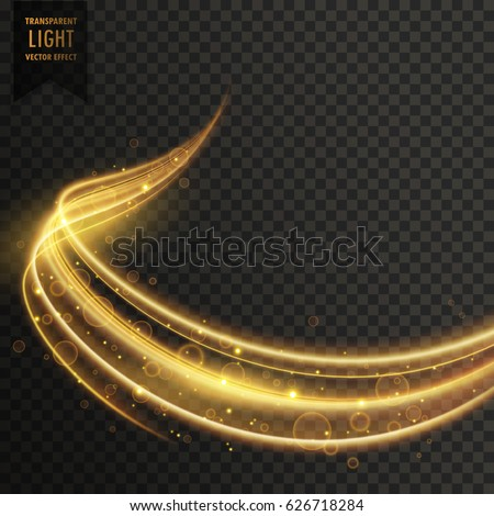 transparent golden light effect vector #626718284