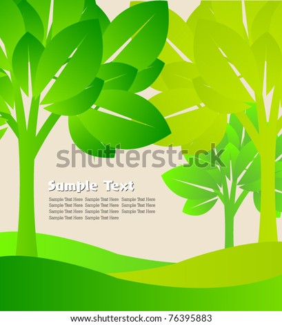 transparent green tree template