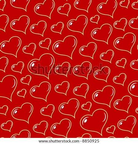 Transparent hearts seamless vector wallpaper (pattern).