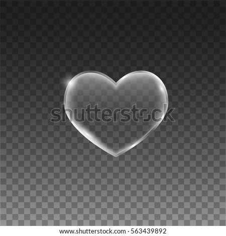transparent hearts with frame