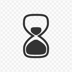 Transparent hourglass icon png, vector illustration of an hourglass icon in dark color and transparent background(png)