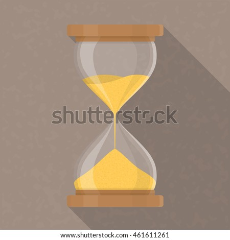 Transparent hourglass icon, sandglass, sandclock, flat design, vector eps10 illustration