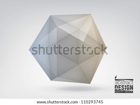 Transparent icosahedron, you can change colors