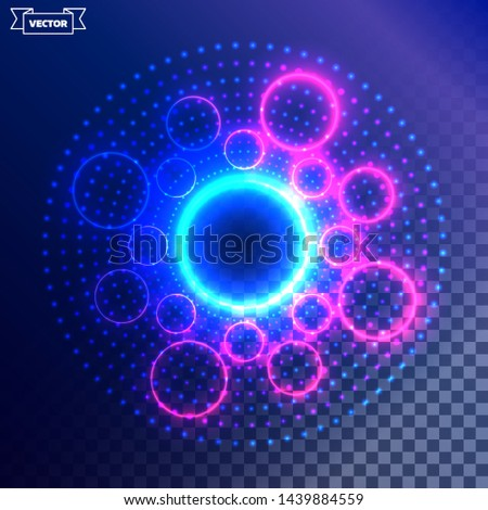 Transparent light effect. Vector illustration. Can be used for fx, game effects, web design, wallpapers, futuristic designs and banners.