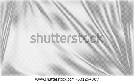 Transparent Light Polyethylene Plastic Warp. Eps10 Vector
