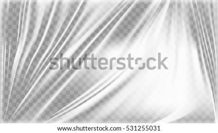 Transparent Light Polyethylene Plastic Warp. Eps10 Vector