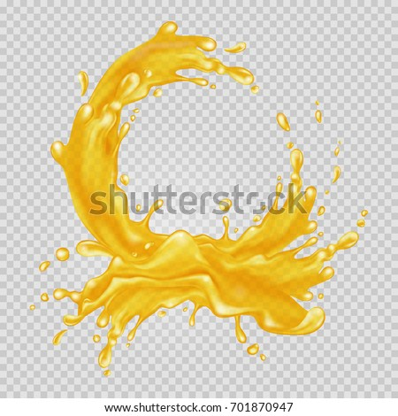 transparent orange liquid
