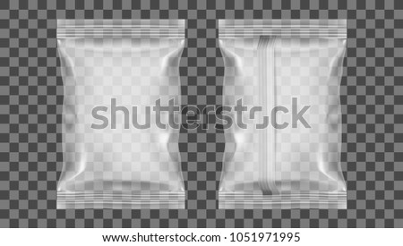 Transparent Packaging For Snack, Sugar, Spices, Or Other Food. EPS10 Vector