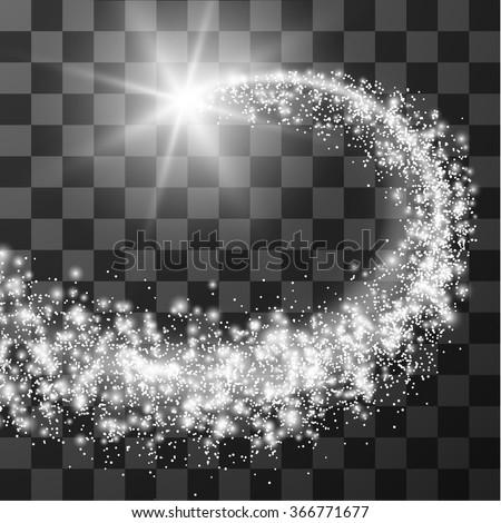 transparent particle trail