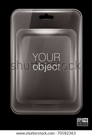 Transparent  plastic clamshell  package, eps10 vector