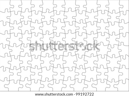 Transparent puzzle on withe background vector