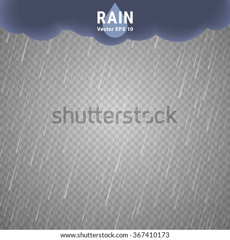 transparent rain image vector