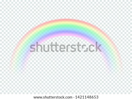 transparent rainbow isolated