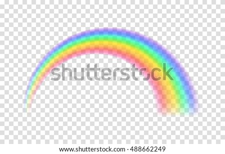 transparent rainbow vector