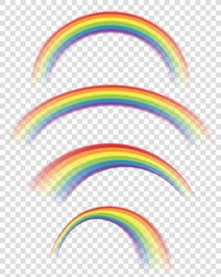 Transparent Rainbows in Different Shapes