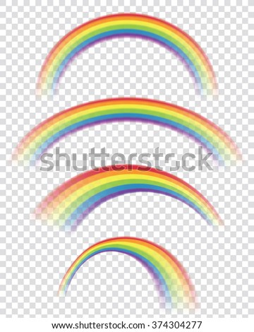 transparent rainbows in