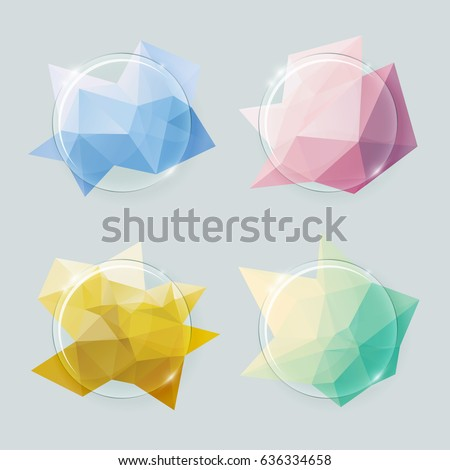 transparent round glass vector