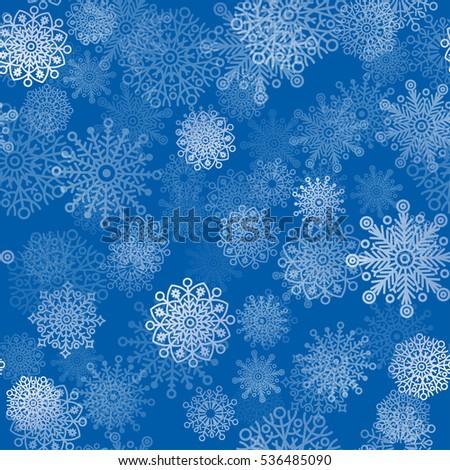transparent snowflakes seamless