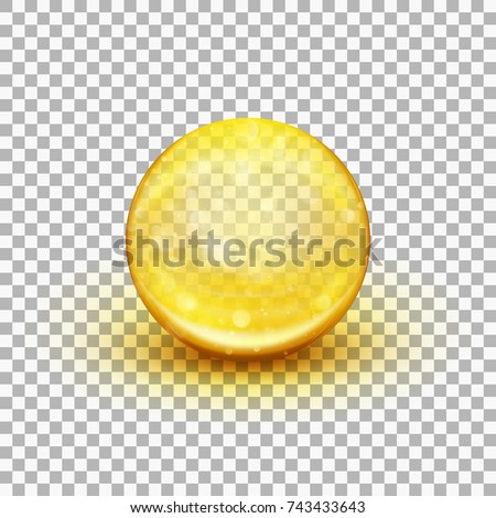 Transparent soft gel capsule object. Fish oil. And also includes EPS 10 vector