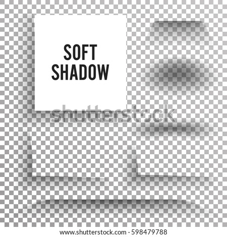 Transparent Soft Shadow Vector. Transparent And Gradient Effect With Soft Edge Isolated On Check Background.