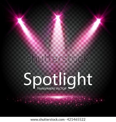 transparent spotlight scene