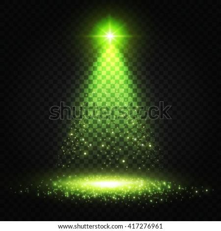 transparent spotlight with