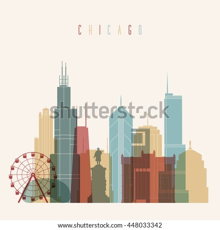 transparent styled chicago city