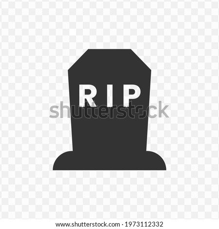 Transparent tombstone icon png, vector illustration of an tombstone icon in dark color and transparent background(png). Stock photo ©
