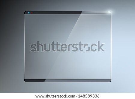 transparent touch screen