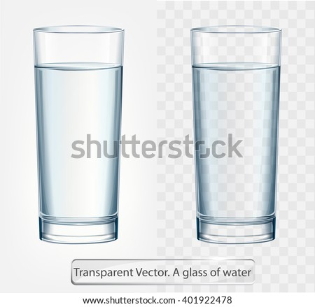 transparent vector glass of