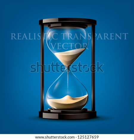 transparent vector sand clock