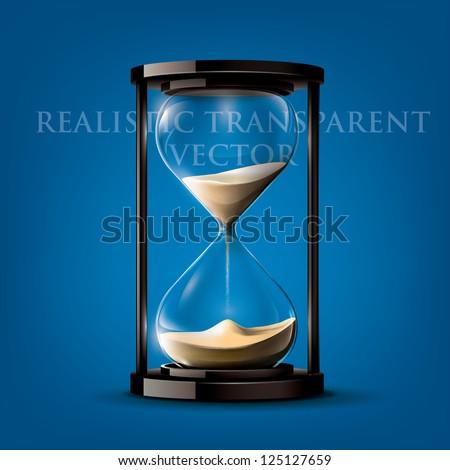 transparent vector sand clock