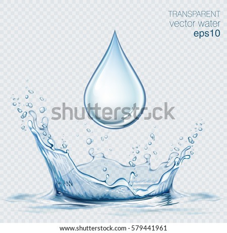 transparent vector water splash