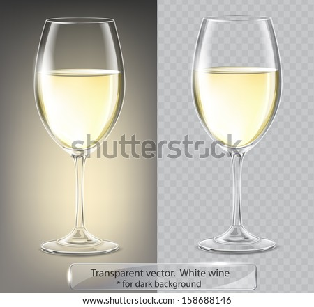 transparent vector wineglass