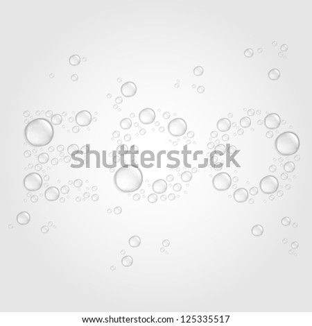 stock-vector-transparent-water-drops-on-light-gray-background-shaped-the-word-eco-eps